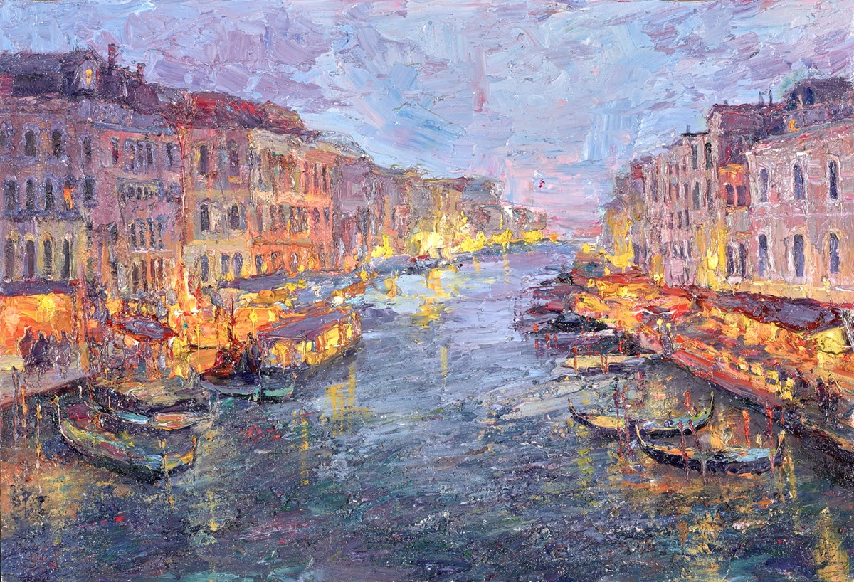 Evening Lights, Venice II by lana okiro -  sized 19x13 inches. Available from Whitewall Galleries